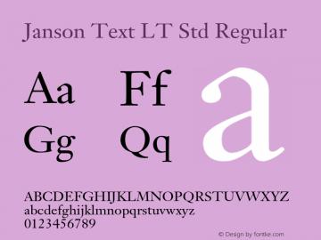 Janson Text LT Std