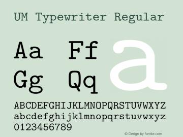 UM Typewriter