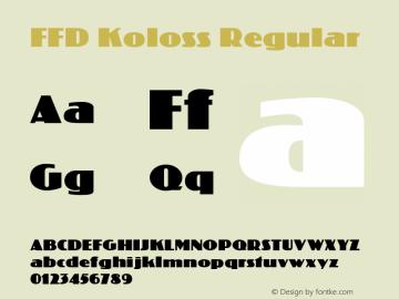 FFD Koloss