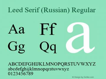 Leed Serif (Russian)