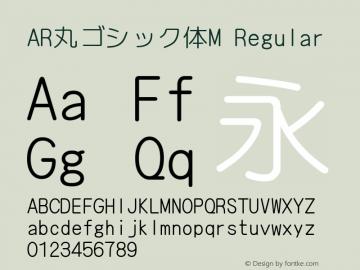 AR丸ゴシック体M