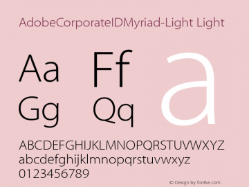 AdobeCorporateIDMyriad-Light