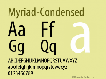 Myriad Concept Roman 700-Font Family Search-Fontke com For