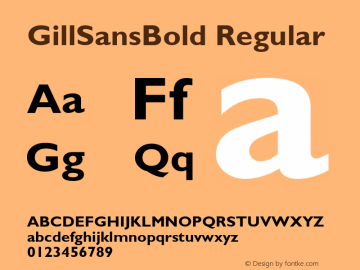 GillSansBold