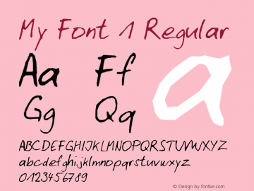My Font 1