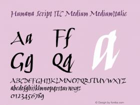Humana Script ITC Medium