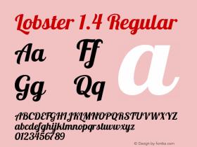 lobster 13 regular font free download