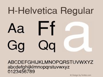 H-Helvetica