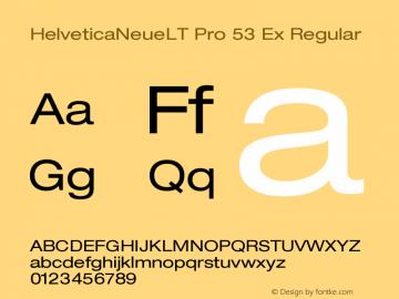 HelveticaNeueLT Pro 53 Ex