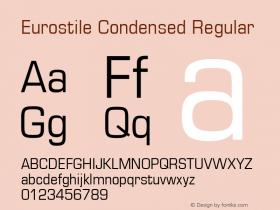 Eurostile Condensed