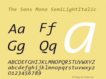 The Sans Mono