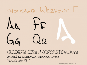 thousand Webfont