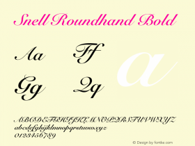 Snell Roundhand