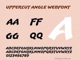 Uppercut Angle Webfont