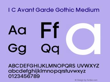 ITC Avant Garde Gothic