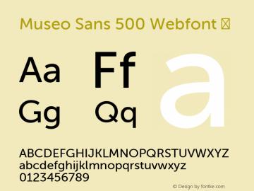 Museo Sans 500 Webfont