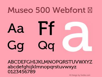 Museo 500 Webfont
