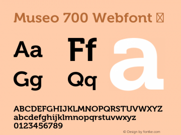 Museo 700 Webfont