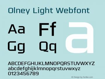 Olney Light Webfont
