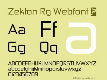 Zekton Rg Webfont