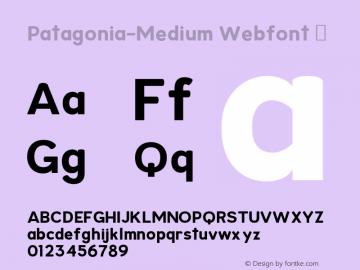 Patagonia-Medium Webfont