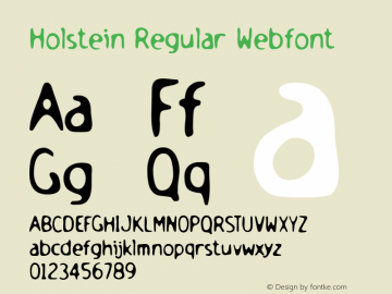 Holstein Regular Webfont