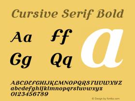 Cursive Serif