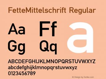 FetteMittelschrift