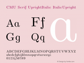 CMU Serif UprightItalic
