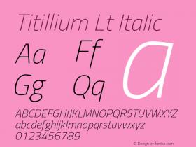 Titillium Lt