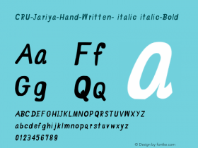 CRU-Jariya-Hand-Written- italic