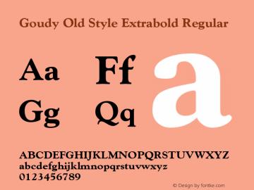 Goudy Old Style Extrabold