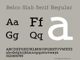 Belco Slab Serif