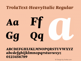 TrolaText-HeavyItalic