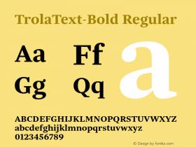 TrolaText-Bold