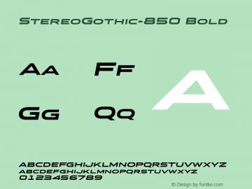 StereoGothic-850