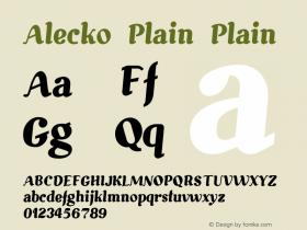 Alecko Plain