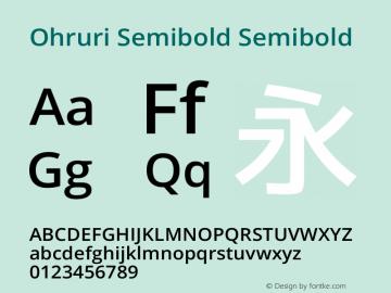 Ohruri Semibold