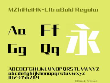MZhiHeiHK-UltraBold