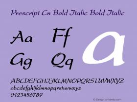 Prescript Cn Bold Italic