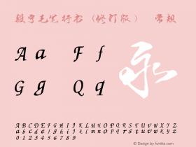 段宁毛笔行书(修订版)