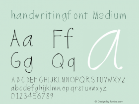 handwritingfont