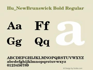 Hu_NewBrunswick Bold