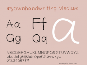 myownhandwriting