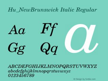 Hu_NewBrunswick Italic