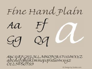 Fine Hand