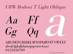 URW Bodoni T