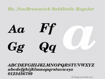 Hu_NewBrunswick BoldItalic