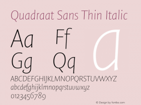 Quadraat Sans