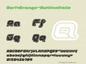 DorisOrange-OutlineItalic